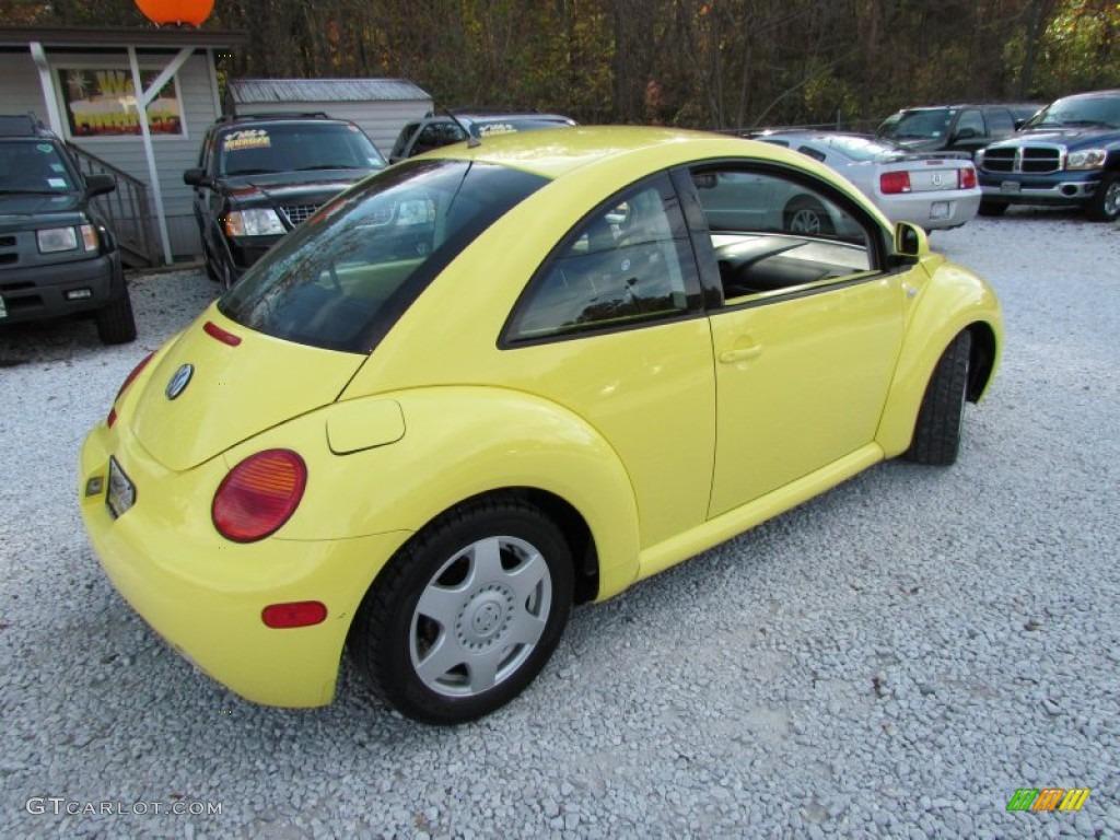 1999 new beetle gls tdi coupe yellow black photo 4