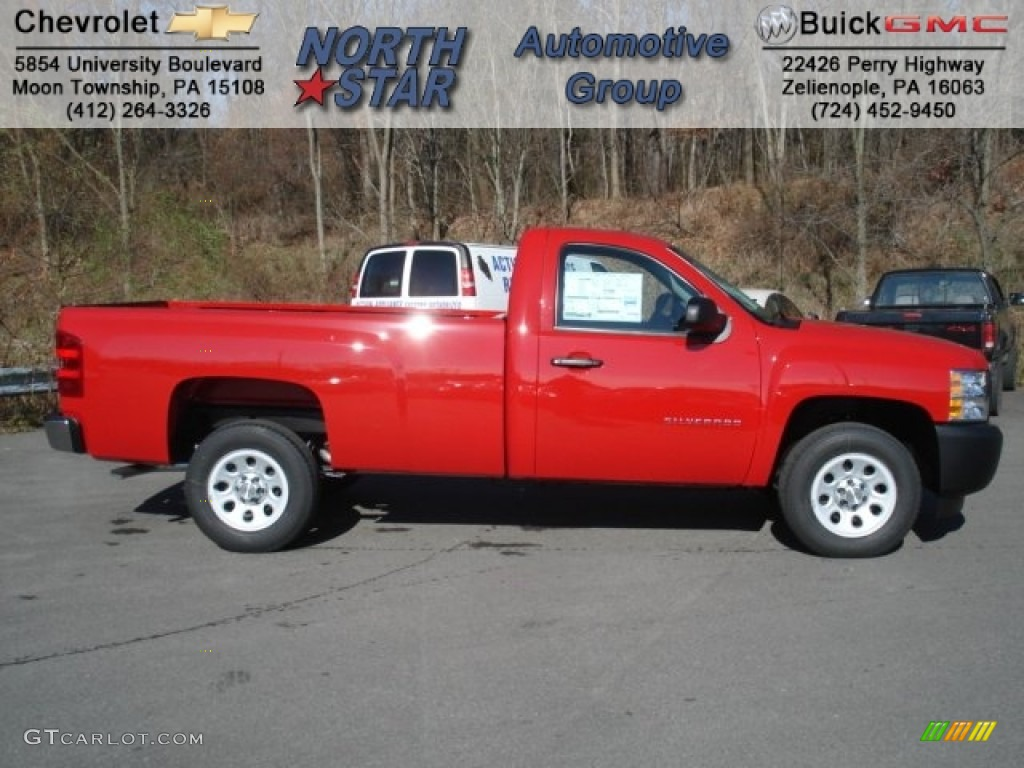 2013 Silverado 1500 Work Truck Regular Cab - Victory Red / Dark Titanium photo #1