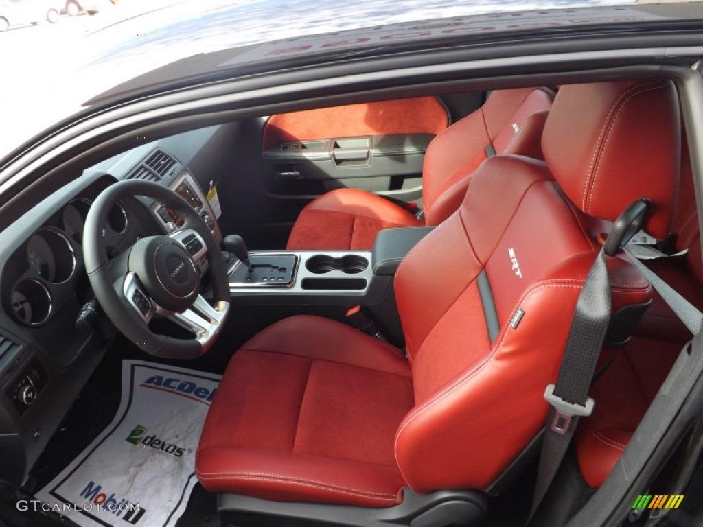 Radar Red Dark Slate Gray Interior 2013 Dodge Challenger Srt8 392 Photo 73627549