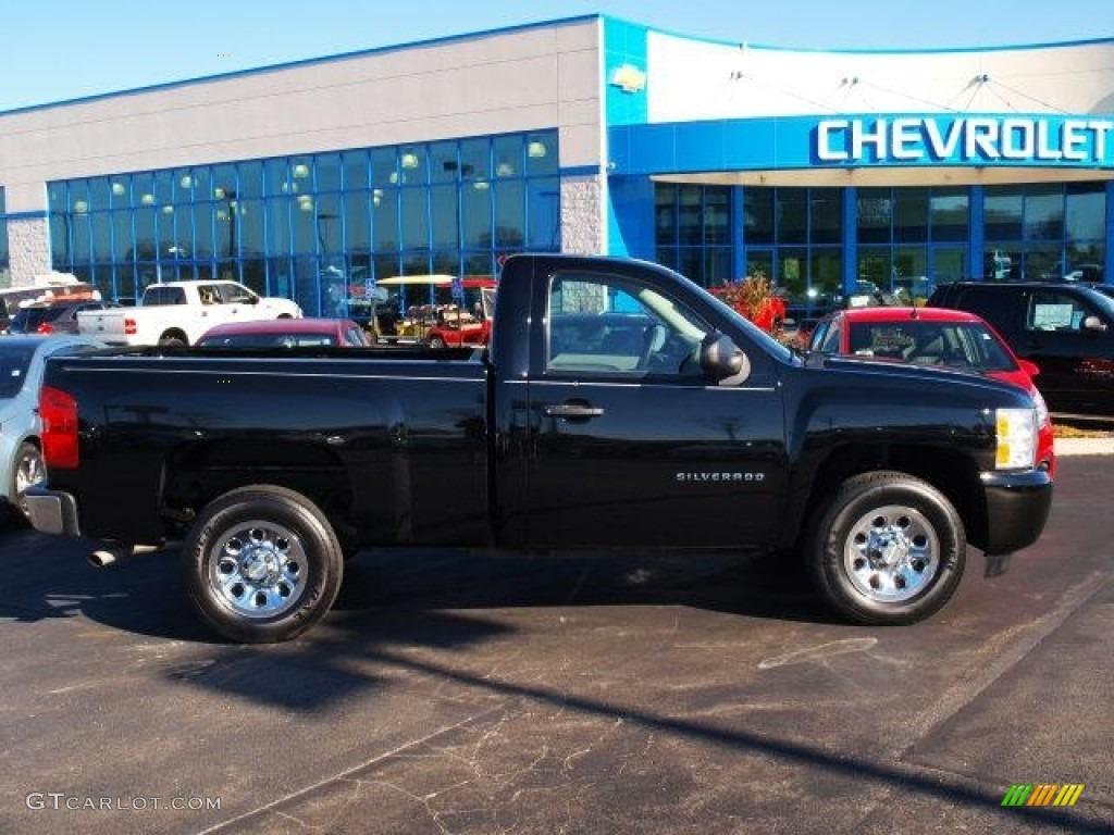 2011 Silverado 1500 LS Regular Cab - Black / Dark Titanium photo #1