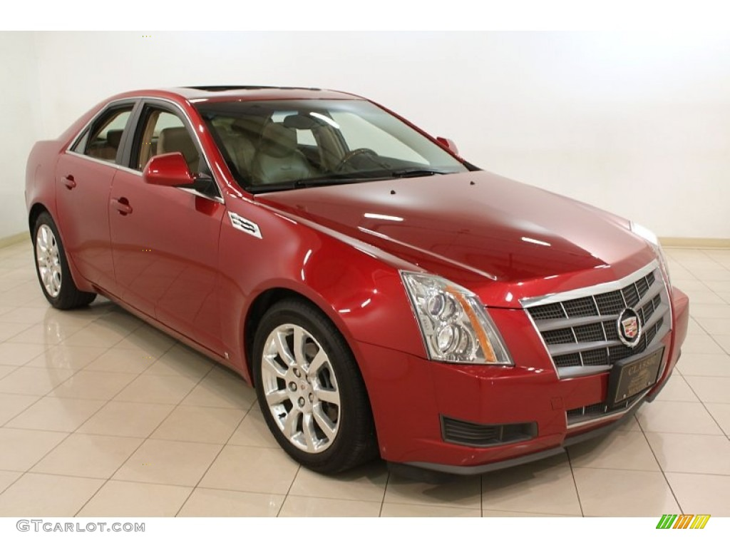 crystal red 2009 cadillac cts 4 awd sedan exterior photo. Black Bedroom Furniture Sets. Home Design Ideas