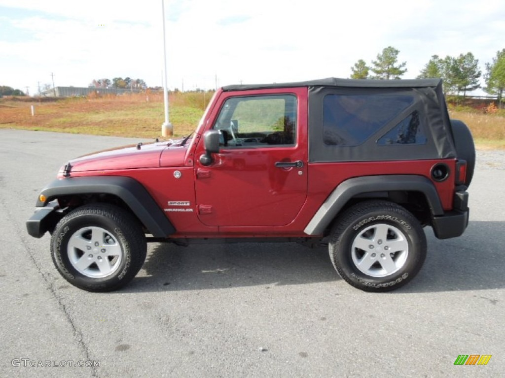 Deep Cherry Red Crystal Pearl 2011 Jeep Wrangler Sport 4x4 Exterior Photo 73631669
