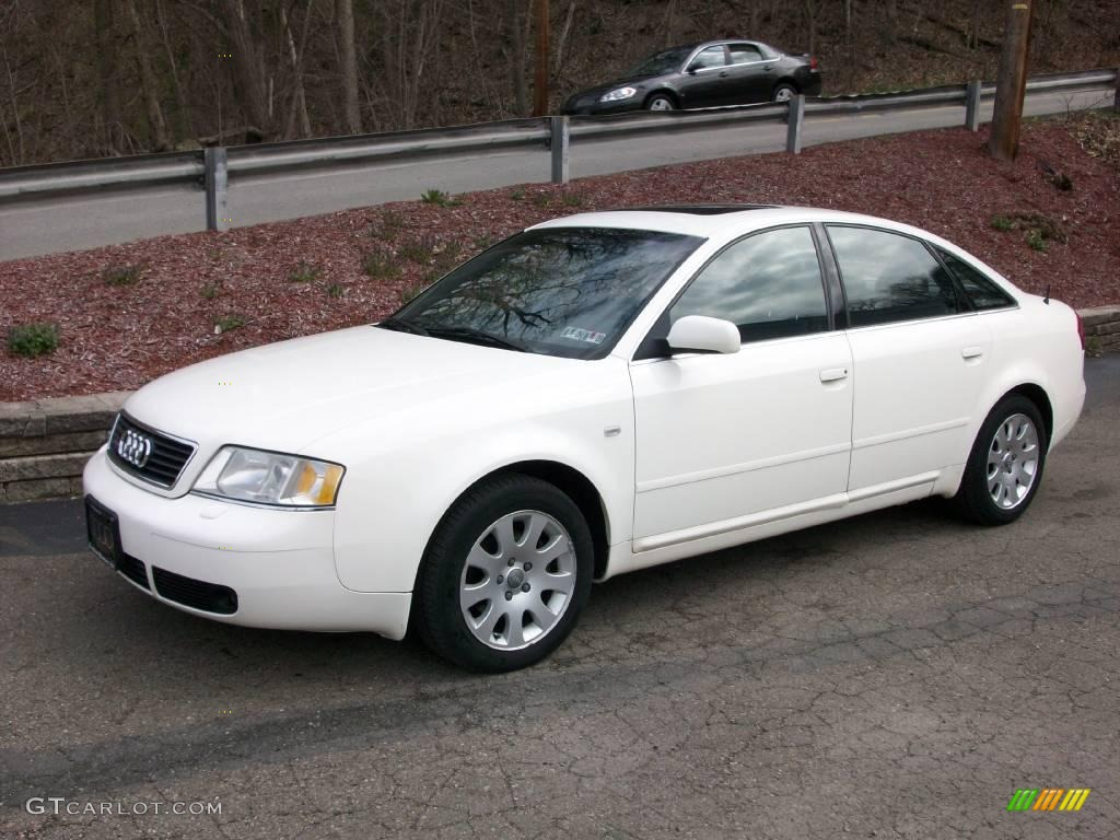 1998 casablanca white audi a6 2.8 quattro sedan #7352632