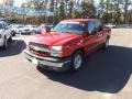 2005 Victory Red Chevrolet Silverado 1500 LS Crew Cab  photo #1
