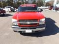 2005 Victory Red Chevrolet Silverado 1500 LS Crew Cab  photo #8