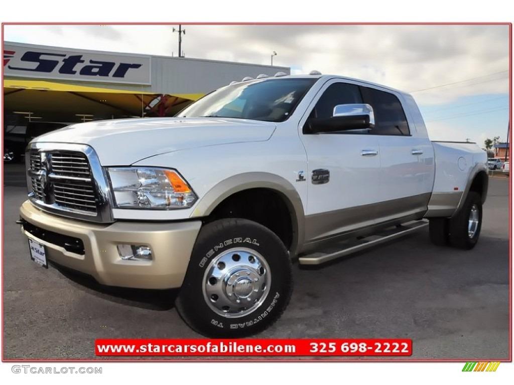 White 2012 Ram Dually Longhorn Laramie For Sale Arkansas