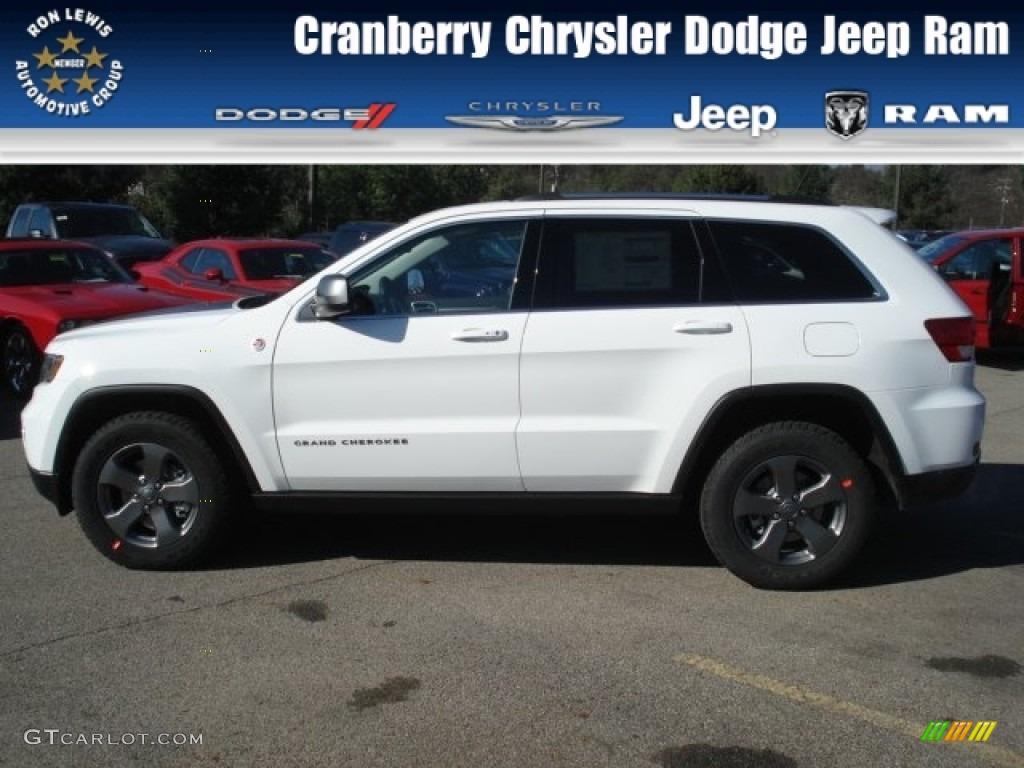 2013 bright white jeep grand cherokee trailhawk 4x4 #73633412