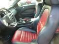 2009 Ford Mustang Dark Charcoal/Red Interior Front Seat Photo