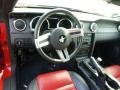 2009 Ford Mustang Dark Charcoal/Red Interior Dashboard Photo