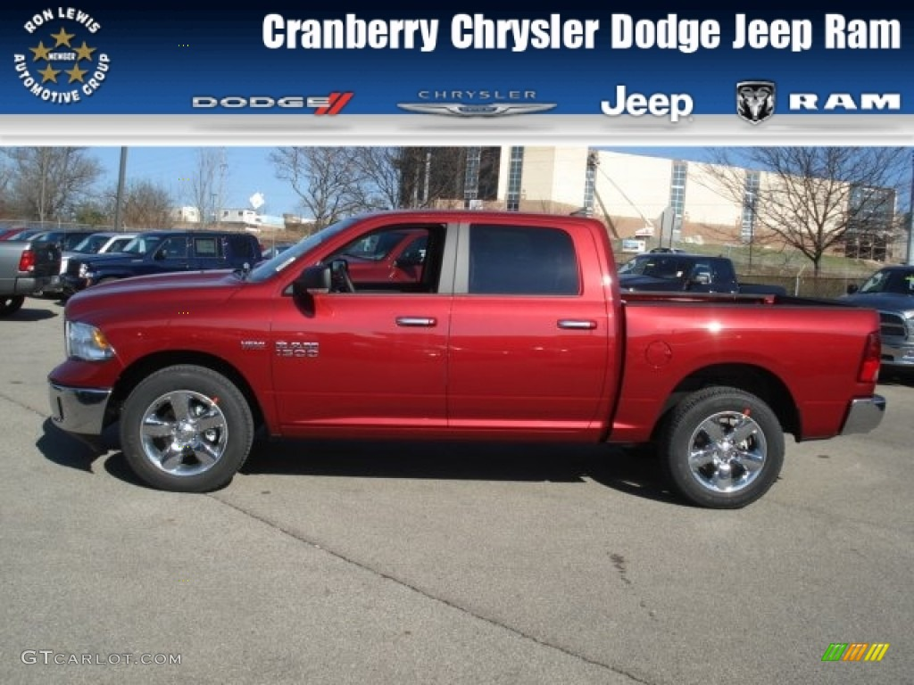 2013 deep cherry red pearl ram 1500 big horn crew cab 4x4 73633402 car color. Black Bedroom Furniture Sets. Home Design Ideas