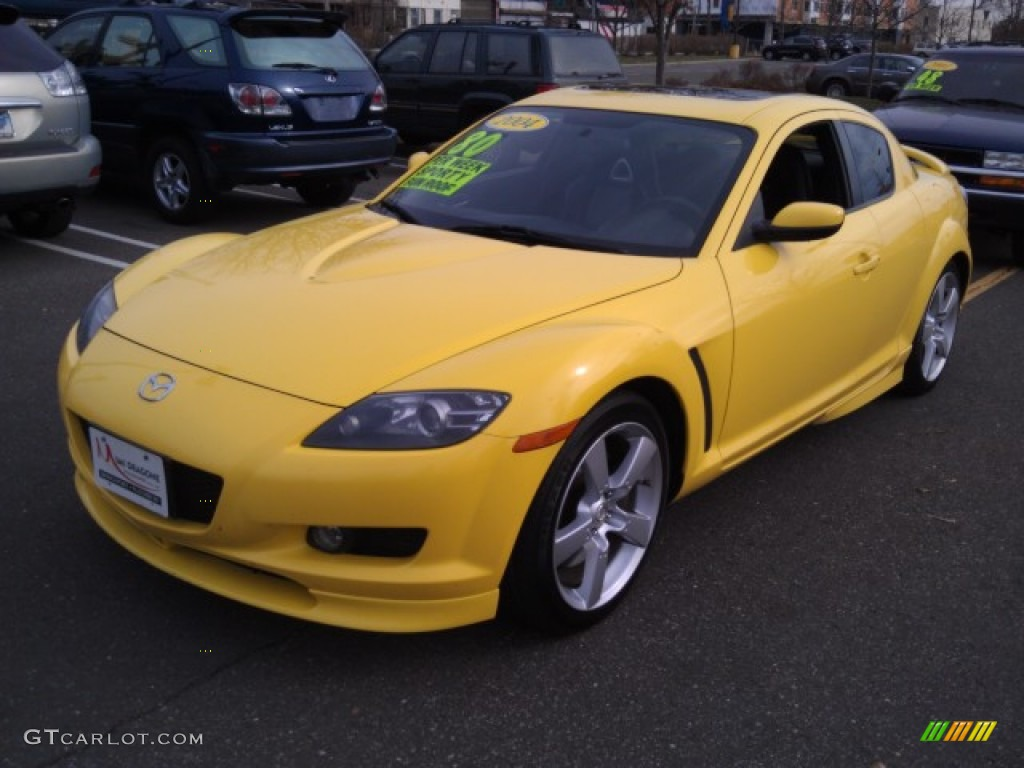 Lightning Yellow 2004 Mazda Rx 8 Sport Exterior Photo 73690179 Gtcarlot Com