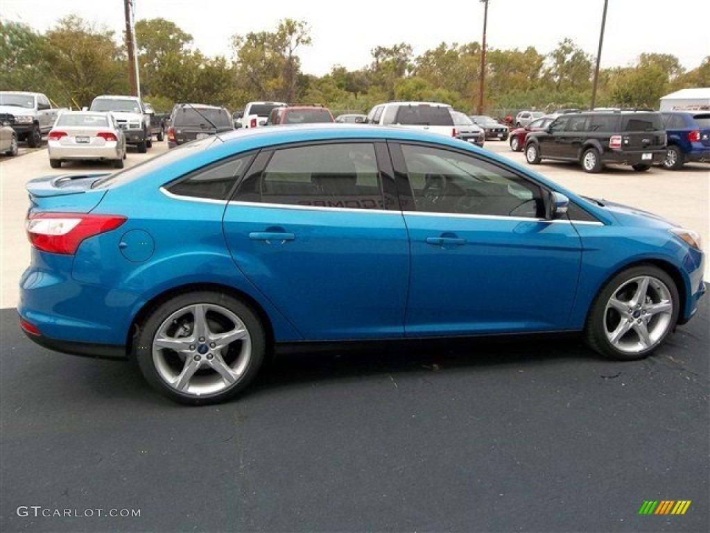 blue candy 2013 ford focus titanium sedan exterior photo 73690818. Black Bedroom Furniture Sets. Home Design Ideas