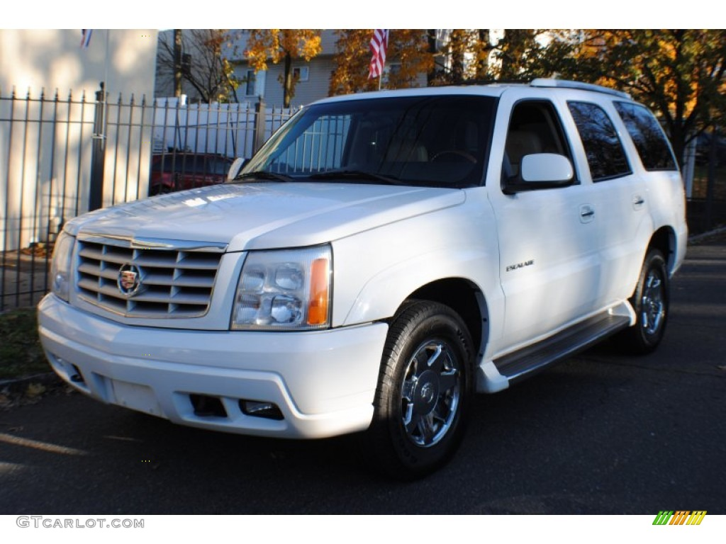 2002 aspen white cadillac escalade awd 73680709. Black Bedroom Furniture Sets. Home Design Ideas