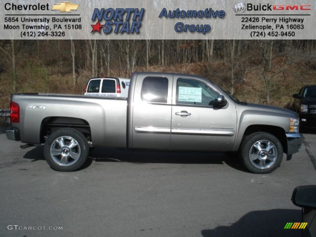 2013 Silverado 1500 LT Extended Cab 4x4 - Mocha Steel Metallic / Ebony photo #1