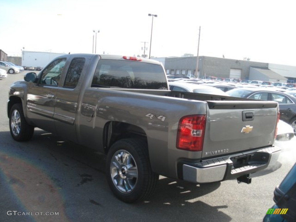 2013 Silverado 1500 LT Extended Cab 4x4 - Mocha Steel Metallic / Ebony photo #6