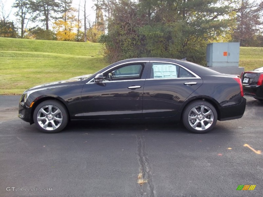 2013 Cadillac Ats 2 0 L Turbo >> Black Diamond Tricoat 2013 Cadillac Ats 2 0l Turbo Luxury Awd