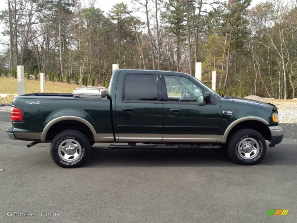 dark highland green metallic 2002 ford f150 xlt supercrew. Black Bedroom Furniture Sets. Home Design Ideas