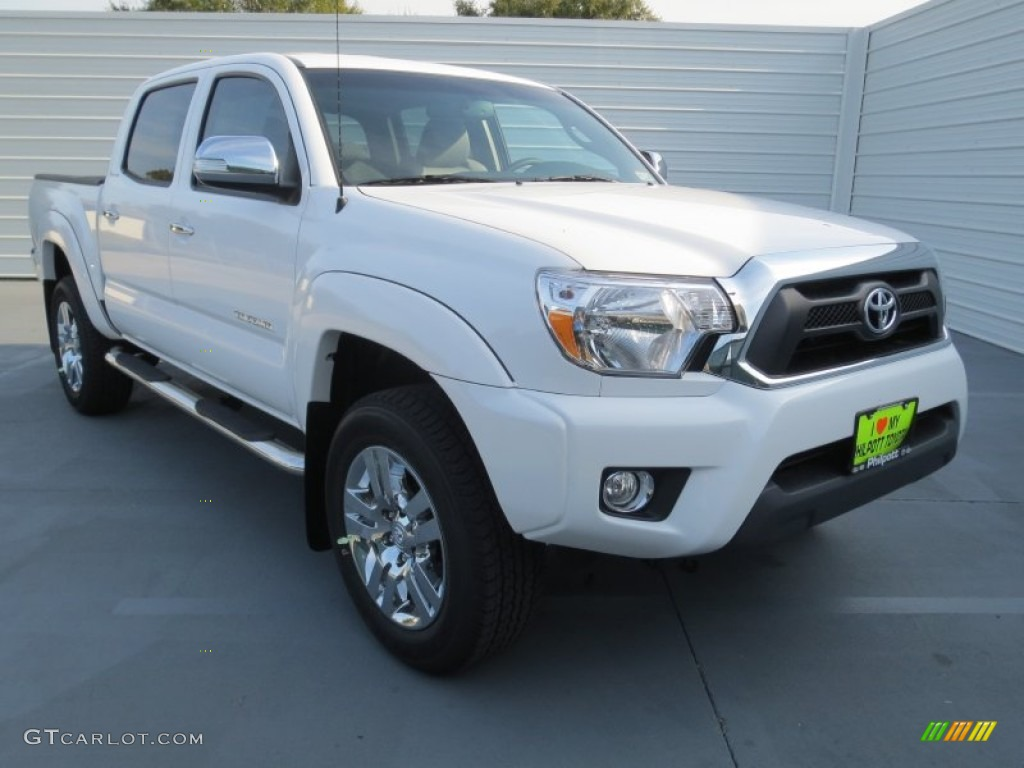 2013 Toyota Tacoma V6 Limited Prerunner Double Cab - Super White Color