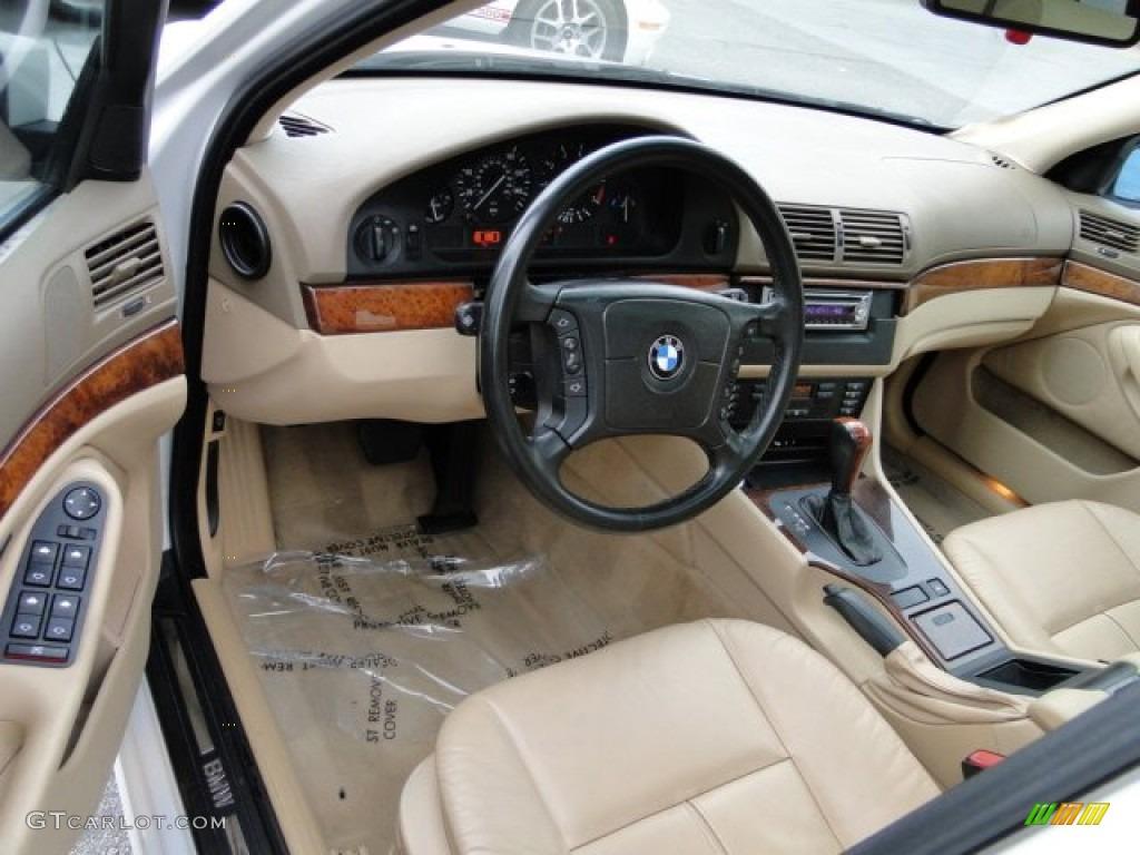sand beige interior 2001 bmw 5 series 530i sedan photo 73740728