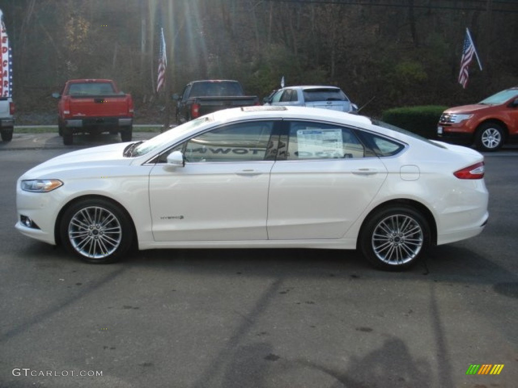 White platinum metallic tri coat 2013 ford fusion hybrid se exterior photo 73743986 gtcarlot com