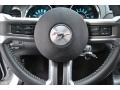 2012 Ford Mustang Charcoal Black Interior Steering Wheel Photo