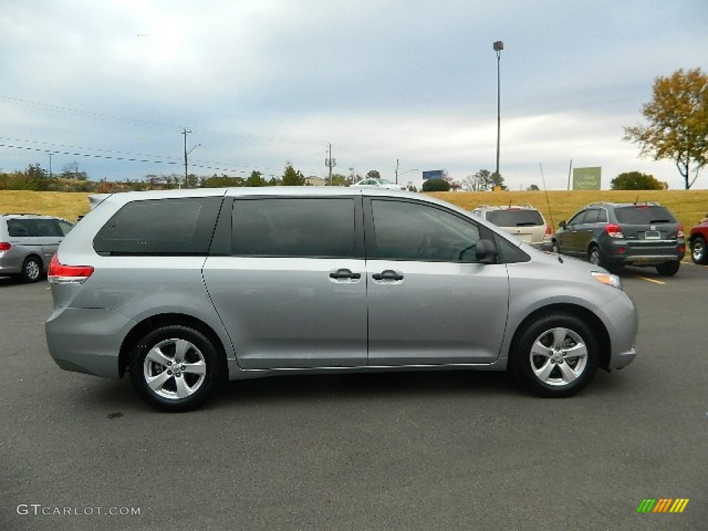 2012 Sienna  - Silver Sky Metallic / Light Gray photo #2