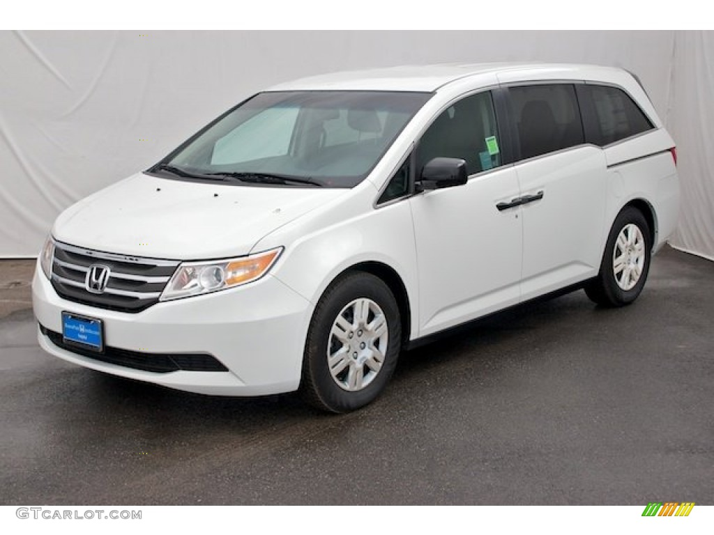 Taffeta White 2013 Honda Odyssey Lx Exterior Photo