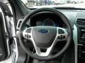 2013 Ford Explorer Charcoal Black/Sienna Interior Steering Wheel Photo