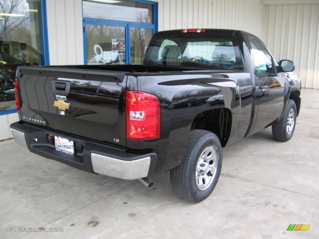 2013 Silverado 1500 LS Regular Cab - Black / Dark Titanium photo #3
