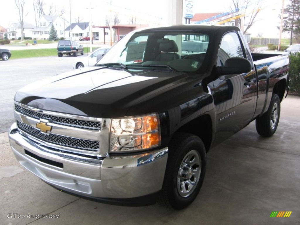 2013 Silverado 1500 LS Regular Cab - Black / Dark Titanium photo #6