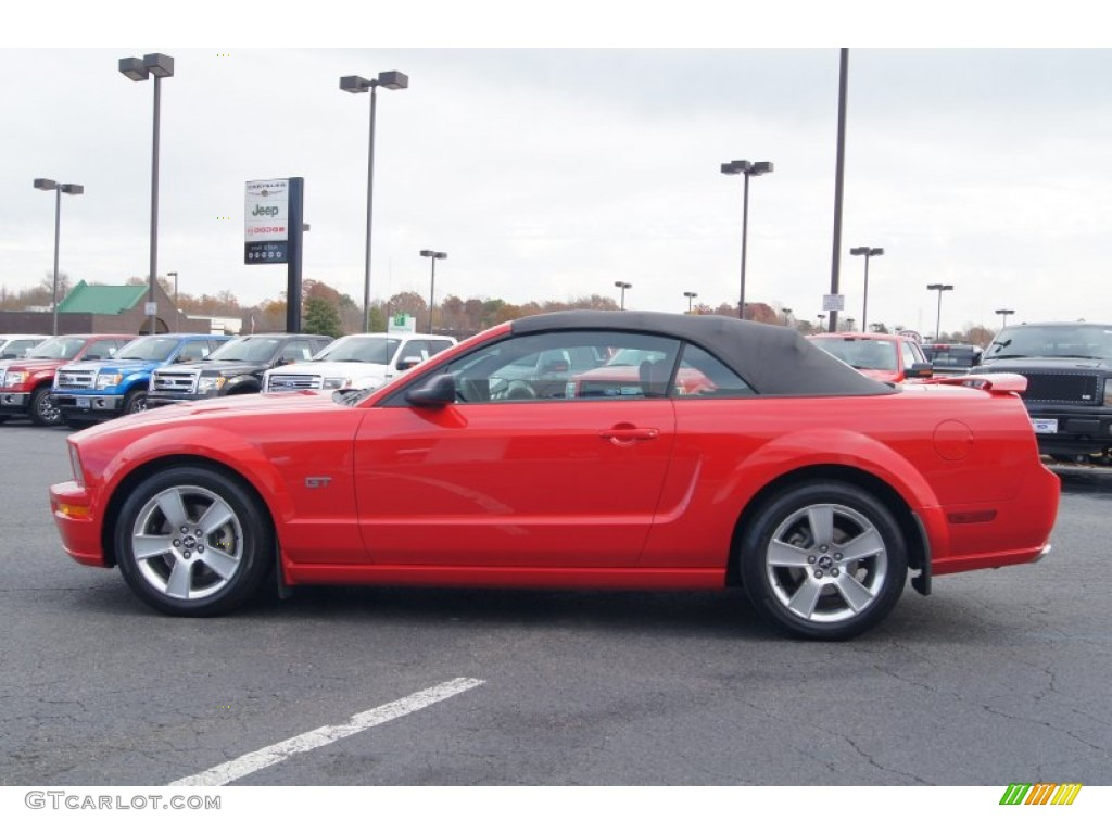 2007 Mustang GT Premium Convertible - Torch Red / Black/Red photo #5