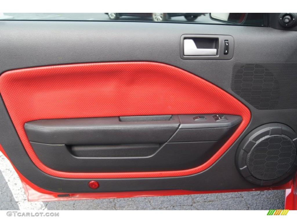 2007 ford mustang gt premium convertible black red door panel photo 73762834 gtcarlot com