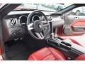 2007 Ford Mustang Black/Red Interior Prime Interior Photo