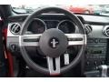 2007 Ford Mustang Black/Red Interior Steering Wheel Photo