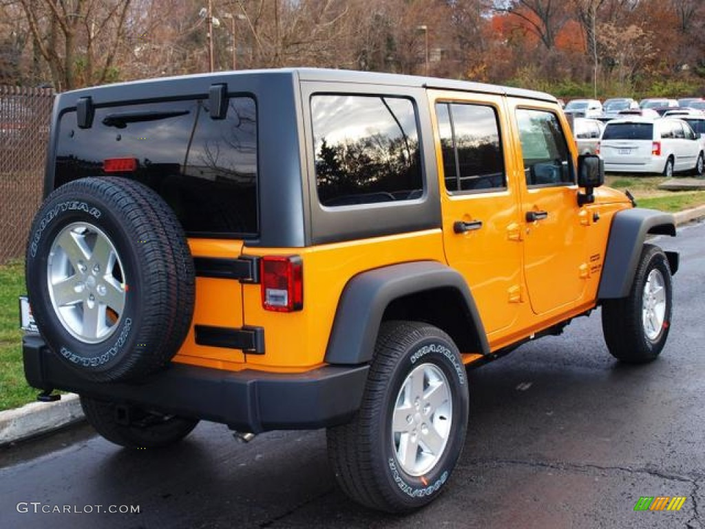 dozer yellow 2013 jeep wrangler unlimited sport s 4x4 exterior photo 73792967. Black Bedroom Furniture Sets. Home Design Ideas