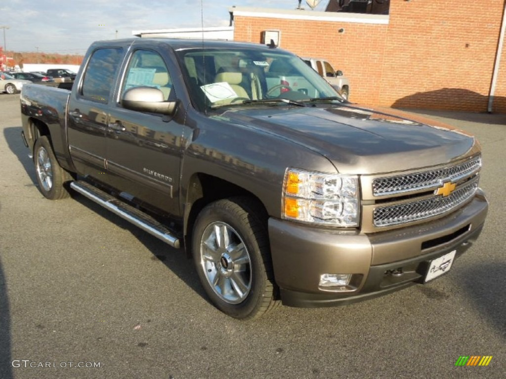 2013 Silverado 1500 LTZ Crew Cab 4x4 - Mocha Steel Metallic / Light Cashmere/Dark Cashmere photo #1