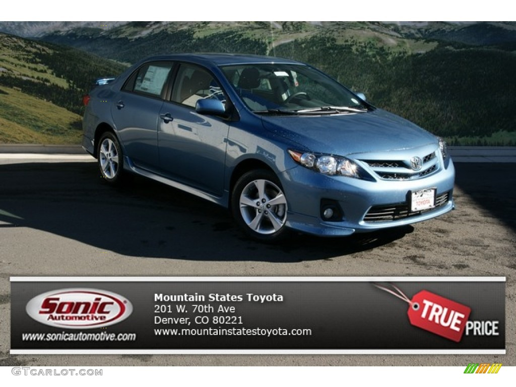 2013 tropical sea metallic toyota corolla s 73808307. Black Bedroom Furniture Sets. Home Design Ideas