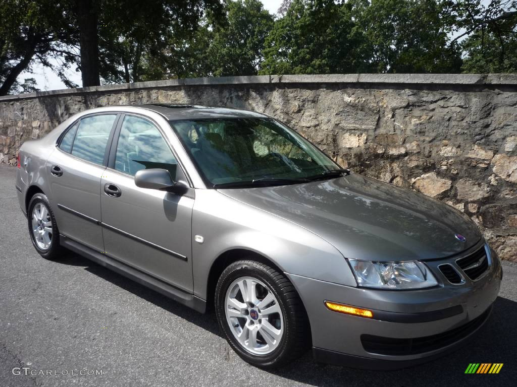 2005 steel gray metallic saab 9 3 linear sport sedan. Black Bedroom Furniture Sets. Home Design Ideas