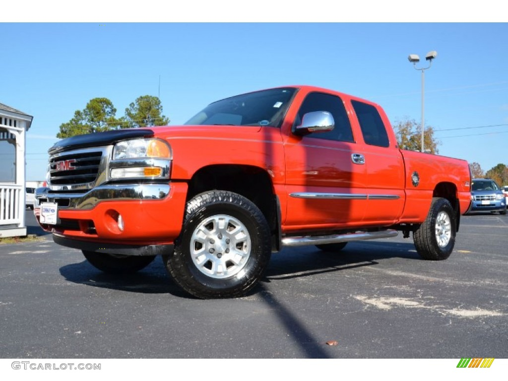 2006 fire red gmc sierra 1500 sle extended cab 4x4. Black Bedroom Furniture Sets. Home Design Ideas