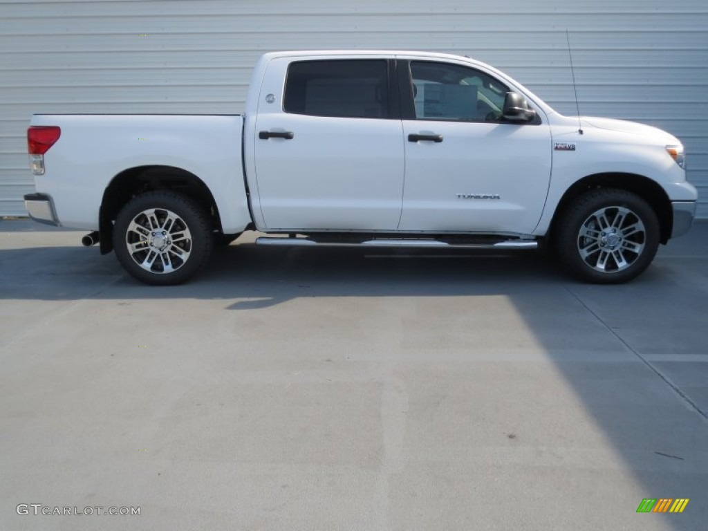 2013 Tundra Texas Edition CrewMax 4x4 - Super White / Graphite photo #2