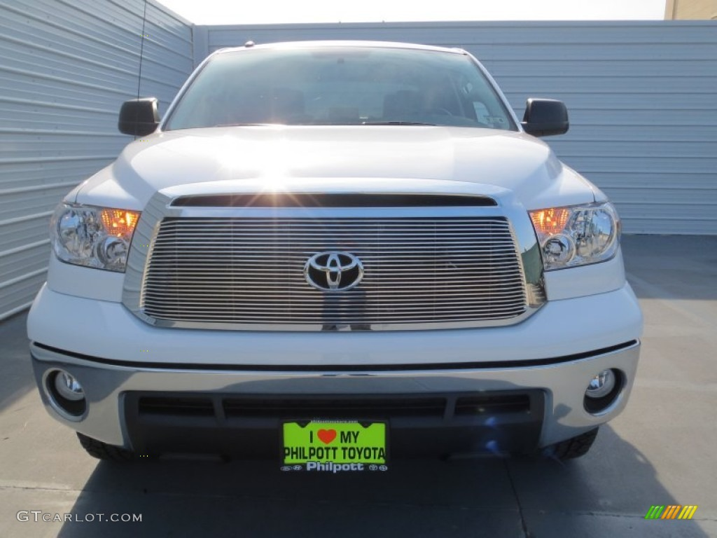 2013 Tundra Texas Edition CrewMax 4x4 - Super White / Graphite photo #7