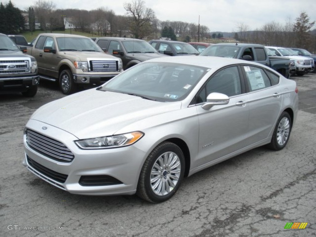Ingot Silver Metallic 2013 Ford Fusion Hybrid Se Exterior Photo 73898716