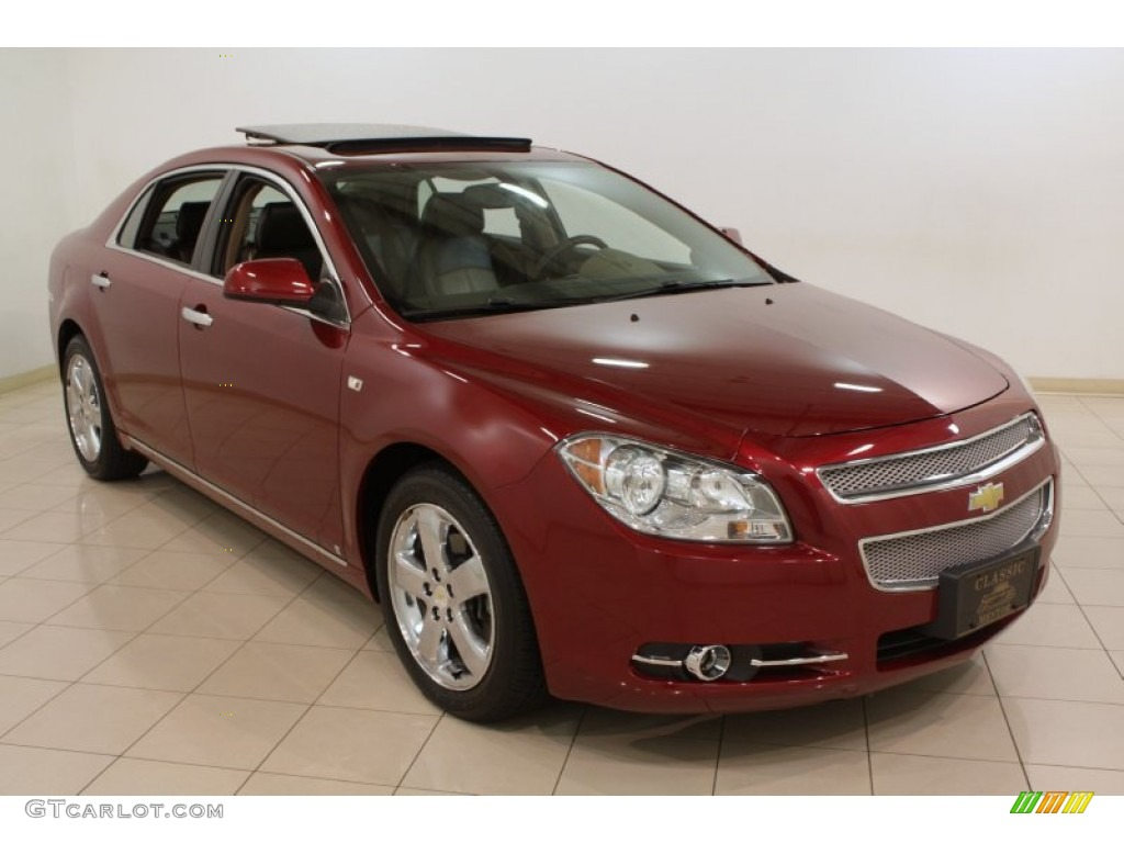 2008 red jewel tint coat chevrolet malibu ltz sedan 73884833 car color galleries. Black Bedroom Furniture Sets. Home Design Ideas