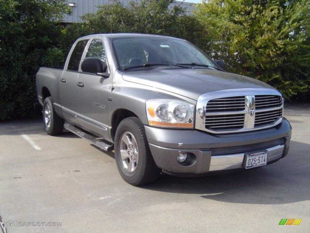 2006 Ram 1500 Laramie Quad Cab - Mineral Gray Metallic / Medium Slate Gray photo #1