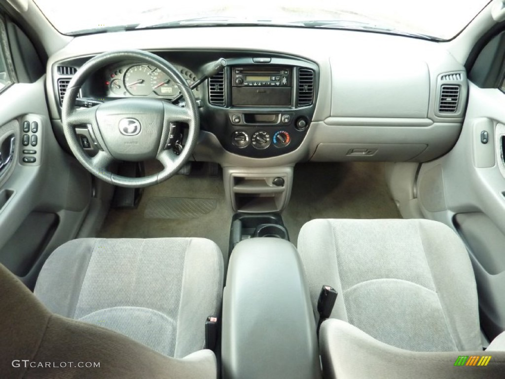 2001 mazda tribute lx v6 4wd gray dashboard photo. Black Bedroom Furniture Sets. Home Design Ideas