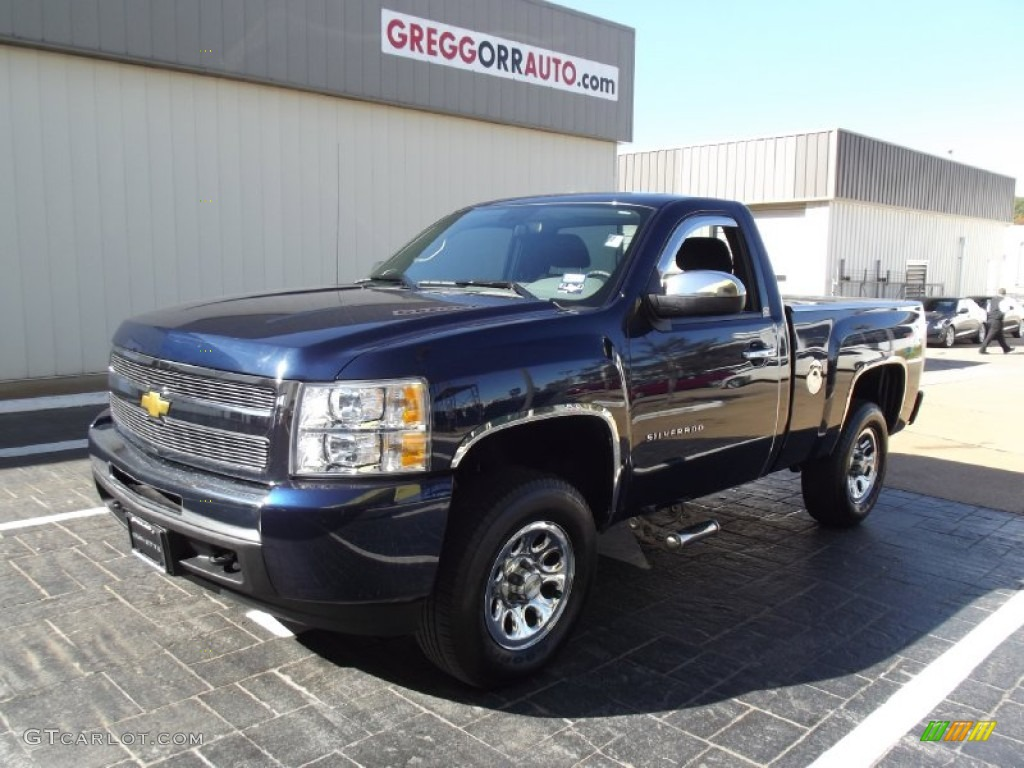 2011 Silverado 1500 LT Regular Cab 4x4 - Imperial Blue Metallic / Light Titanium/Dark Titanium photo #1