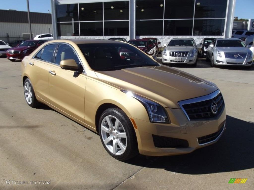 Summer Gold Metallic 2013 Cadillac Ats 2 5l Exterior Photo 73933830