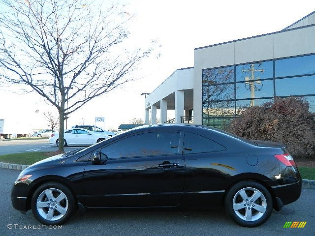 nighthawk black pearl 2007 honda civic ex coupe exterior