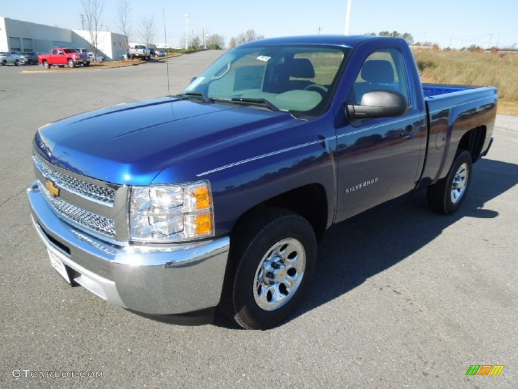2013 Silverado 1500 Work Truck Regular Cab - Blue Topaz Metallic / Dark Titanium photo #1