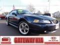 2001 True Blue Metallic Ford Mustang GT Coupe  photo #1